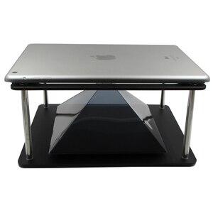 Image 3 - הולוגרפית Tablet PC 3D הקרנה פירמידת DIY עבור מקסימום 12 אינץ ipad 3 Hatsune MV מקרן