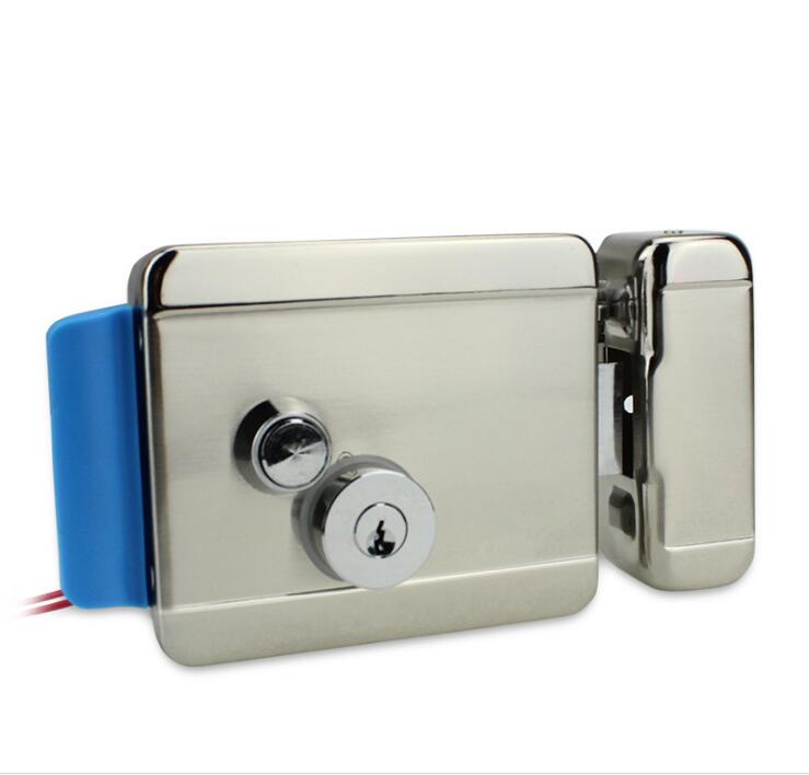 Stainless Steel Outdoor Electric Gate Door Lock Secure Electric Metallic Lock Electronic Door Lock For Intercom Gate Door
