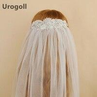 Noble Wedding Veil Rhinestone Veils Long Bridal Wedding Accessories Crystal Flowers Cathedral Bride's Veil For Wedding Party