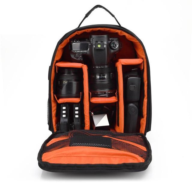 Color : Orange AIYAMAYA Waterproof Functional DSLR Backpack Camera Video Bag w//Rain Cover SLR Tripod Case PE Padded for Photographer Canon Nikon