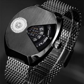 XINBOQIN Men Quartz Wristwatches Stainless Steel Water Resistant Watches Men's Fashion Casual Tonneau Wrist Watch 3037