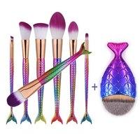 10pcs Pro Makeup Brushes Set Thread Purple Makeup Brushes Blending Powder Foundation Eyebrow Contour Brushes 2pcs