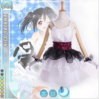 Love Live School Idol Festival Love Live Cosplay BiBi SP Nico Yazawa Cosplay Costume Performance Dress witch Cat Tail