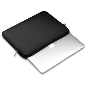 """Image 5 - Luva macia saco do portátil caso para macbook ar pro retina 13 11 15 14 """"para mac bolsa capa para notebook telefone mouse adaptador cabo"""