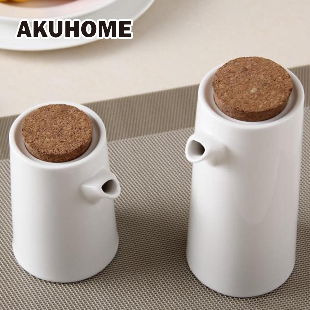 Keramikas Gravy Laivas Porcelāna Olīveļļa Pot Sojas mērce Etiķis Garšvielas Vai Eļļas pudele Virtuves Virtuves rīki Uzglabāšanas pudeles