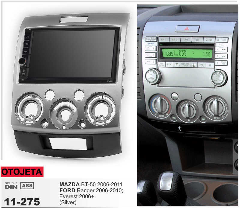 Navirider GPS Bluetooth stereo android 9.1 samochodowe multimedia dla mazdy BT-50 Ford Ranger Everest 2006-2011 radio + kamera + carplay