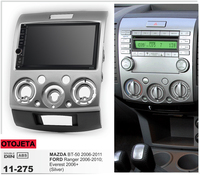 Navirider GPS Bluetooth stereo android 9.1 car multimedia for Mazda BT 50 Ford Ranger Everest 2006 2011 radio+camera+carplay