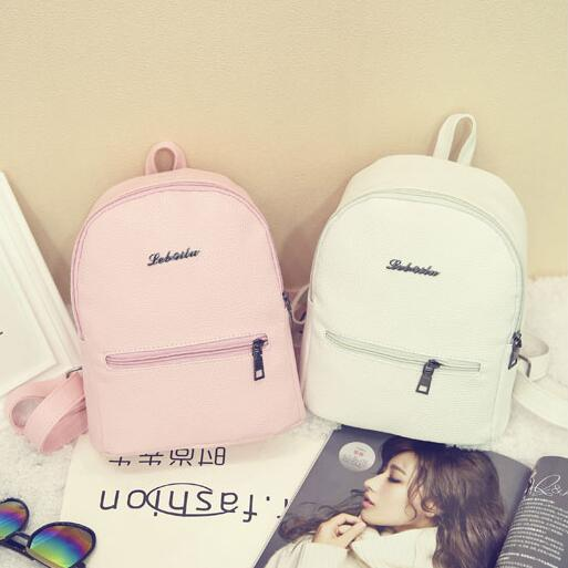 New Fashion Women Backpack Korea High quality PU leather Candy Color College Shoulder Bag Sweet girl traveling mini Female bag  2016 high quality fashion new women backpack pu leather ladies shoulder bag college frosted backpack wild simple mini school bag