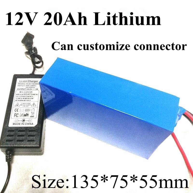 Batería de energía 12 v 20ah 20000 mah 12 v Dc Li ion de litio paquete para 200 w Golf carro Carro de copia de seguridad potencia 12 Cctv Camera + 3A cargador-in Packs de baterías from Productos electrónicos    1