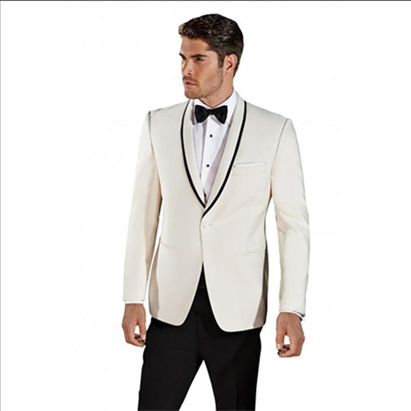 modern wedding suit shawl lapel tuxeod for men suits white classic ...