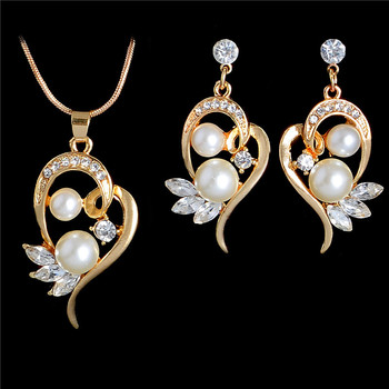 Women's Vintage Pearl Imitation Jewelry Set Jewelry Jewelry Sets Women Jewelry Metal Color: F434