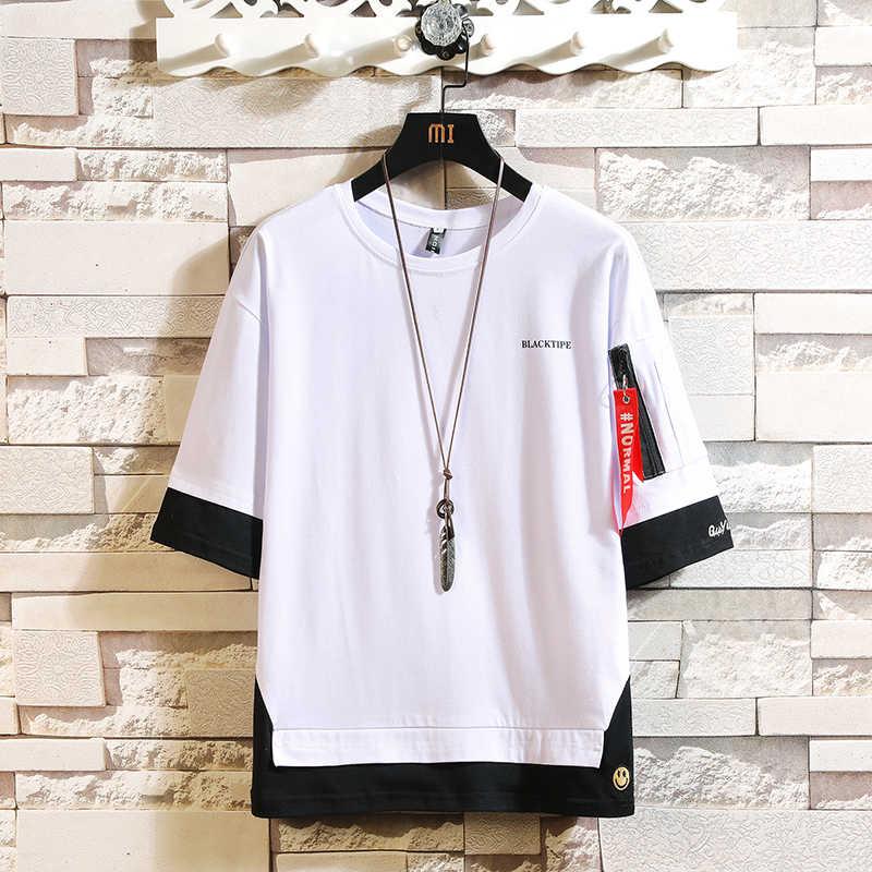 ファッションハーフ半袖ファッションoネックプリントtシャツ男性の綿 2020 夏の服トップtシャツtシャツプラスアジアサイズM-5X。