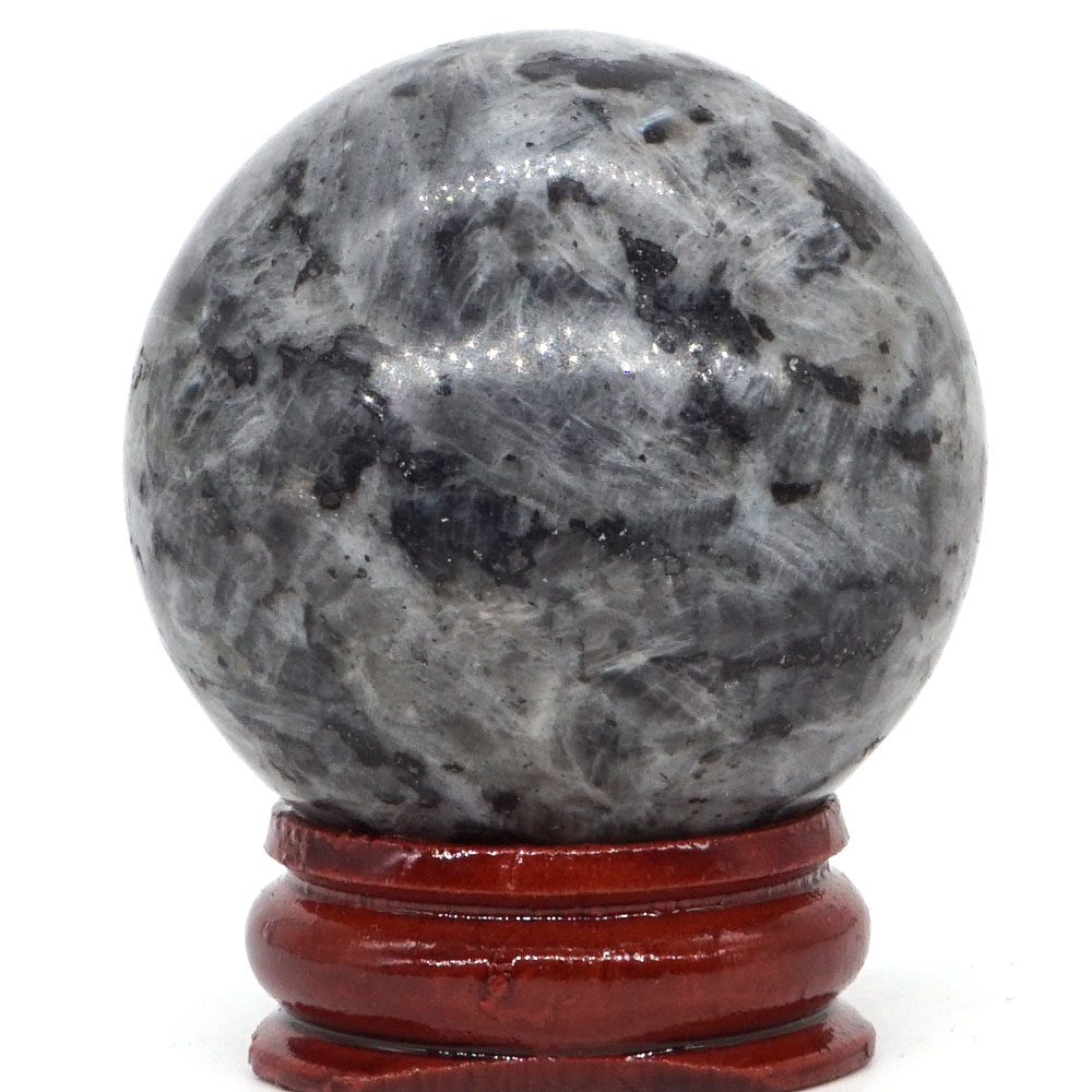 Natural Larvikite Labradorite Ball Mineral Quartz Sphere Hand Massage Crystal Ball Healing Feng Shui Home Decor Accessory 40mm in Stones from Home Garden