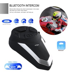 1000 M casco de motocicleta inalámbrico Bluetooth intercomunicador BT Interphone moto FM auriculares portátil Mini Interphone BT-S3