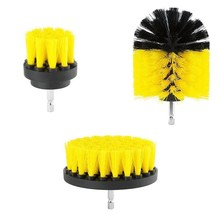 3 pcs/set Power Scrubber Brush Drill Brush for Bathroom Surfaces Tub Shower Tile Grout Cordless Power Scrub Cleaning Kit