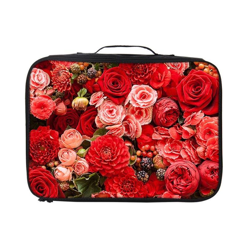 VEEVANV Waterproof Flower Print Women Travel Bags Troller Suitcases HandBag Large Capacity Duffle Bag Clothes Organizer package
