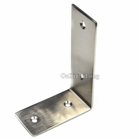 NEW 5PCS Stainless Steel Right Angle Corner Bracket L Shape Brushed Finish Frame Board Brace Support