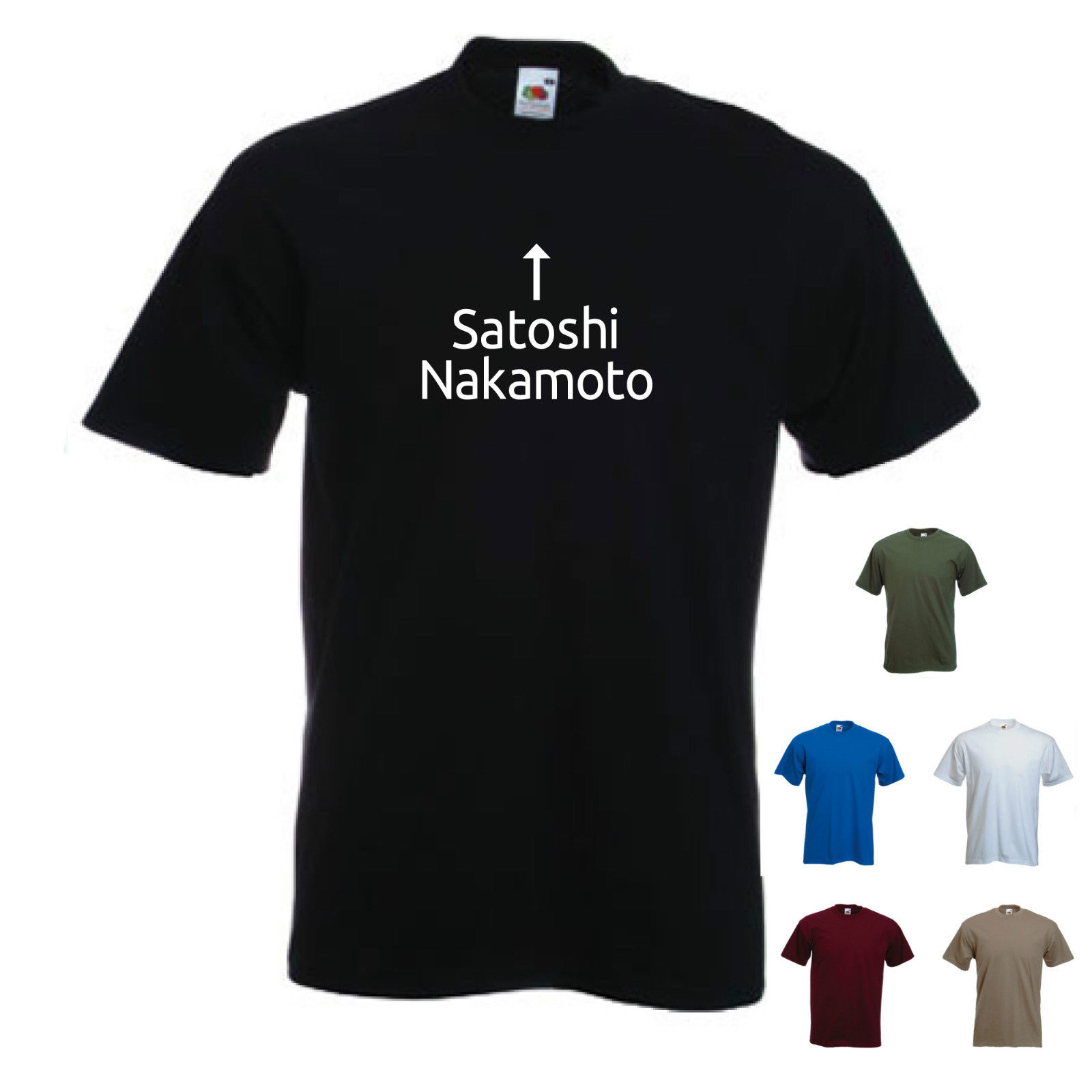 Satoshi Nakamoto. Bitcoin P2P Digital Currency / Mining mens T-shirt Tee New T Shirts Funny Tops Unisex