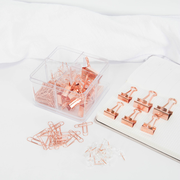 171pcs/box Metal Paper Clips Set Rose Gold Tickets Letter Paper Binder Clip Push Pins Thumbtack Office School Accessories Supply171pcs/box Metal Paper Clips Set Rose Gold Tickets Letter Paper Binder Clip Push Pins Thumbtack Office School Accessories Supply
