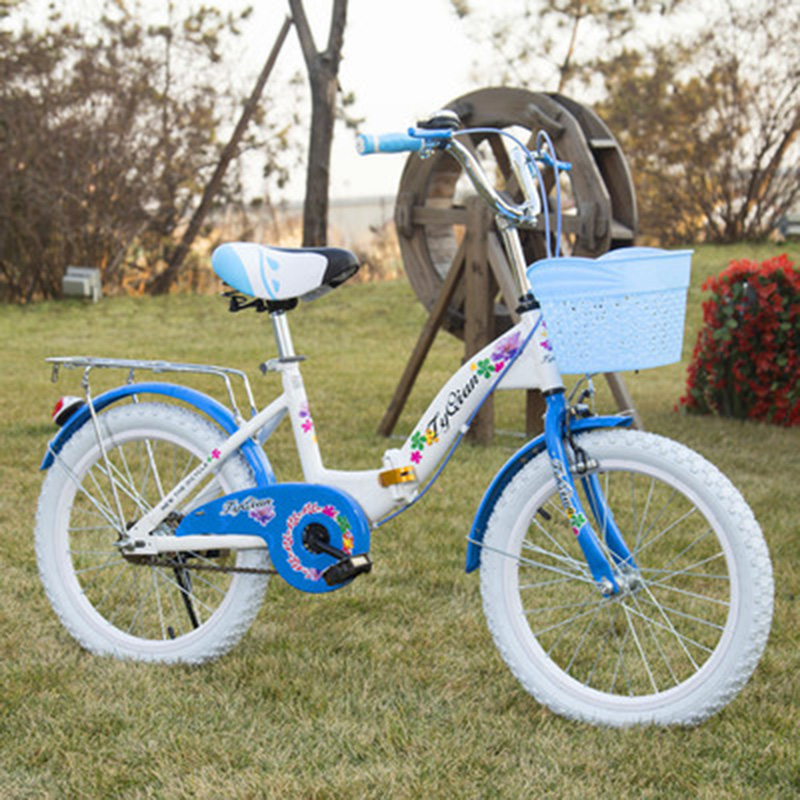 New Children's Folding Bicycle 22-inch Princess Dot Student Bicycle Foldable
