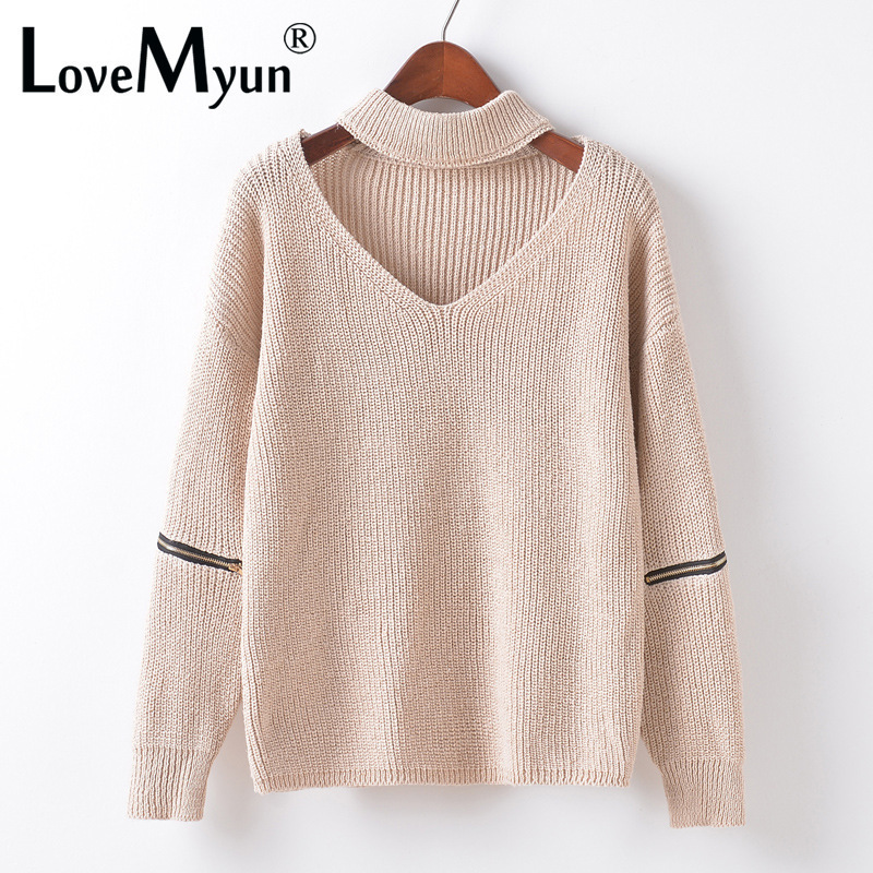 75bc4a2afecf 2017 Winter Spring Women Sweaters Pullovers Casual Loose Knitted Sweater  Women Tricot Pullover Jumpers Oversized Mujer Sweater-in Pullovers from  Women's ...