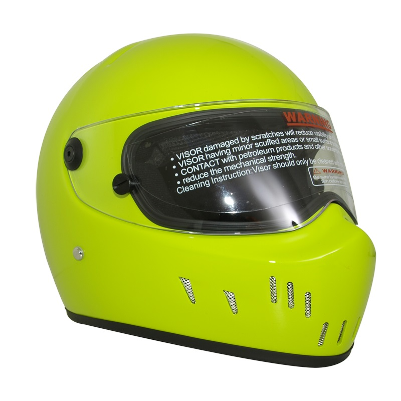 Lemon yellow Motorcycle Full Face Helmet Motocross Motorbike ATV Dirt Bike DOT approved  D.O.T Certified Helmets