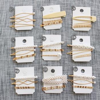 M MISM Pearls Hair Clips for Women Fashion Sweet Imitation Korean Style Hairpins Alloy BB Headmade Girls INS Hair Accessories