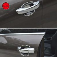ABS Chrome Car Door Handle Door Bowl Trim for VW Touareg 2011 2018 4 Door Decoration Cover Sticker Exterior Moulding Accessories