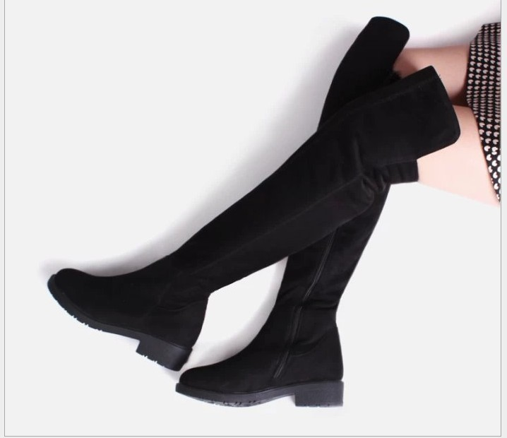 Free shipping Fashion winter female shoes over the knee women s boots flat shoes sexy warm
