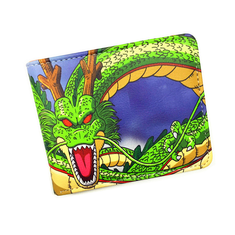 Dragon Ball Z Wallet Young Men and Women Students Anime Fashion Short Wallets Japanese Cartoon Comics Purse Dollar Price dragon ball z wallets men women creative gift purse standard short wallet leather money organizer bags cartoon anime wallet