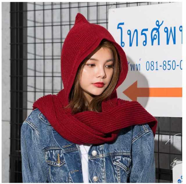Online-Shop 2017 marke Design frauen Kapuzen Schal Winter Wolle ...
