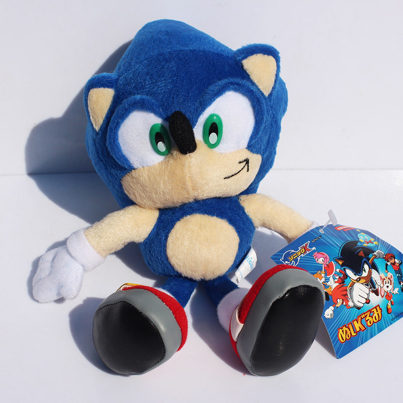 5pcs 9 23cm Blue Sonic the Hedgehog Stuffed Animals Plush Toys Soft Doll For Children Free