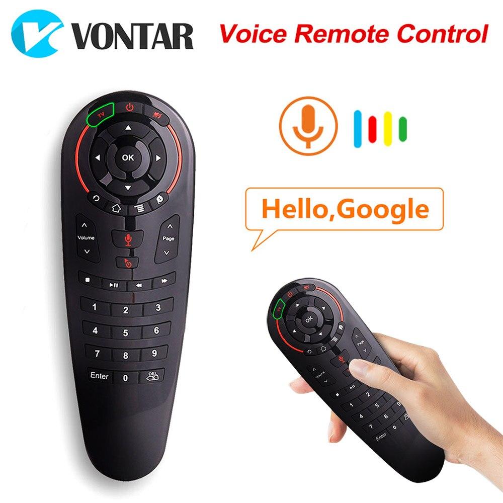 VONTAR G30 voix télécommande Air souris sans fil Mini clavier avec apprentissage IR pour Android TV Box PC