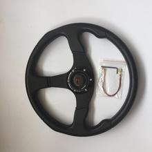 Stormcar 14 дюймов 350 мм OMP Deep Кукуруза driftingleather рулевого колеса Универсальный Алюминий+ pu кадра 5 с овальным вырезом на рулевое колесо