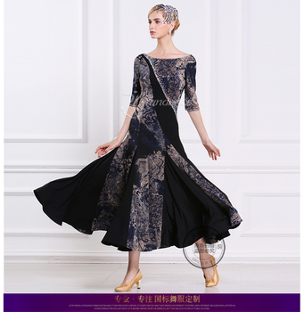 Señora personalizado vestido de baile de salón chicas vals bailar Tango  vestidos estándar Flamenco etapa salón de baile trajes D-0406 c563ff65788e