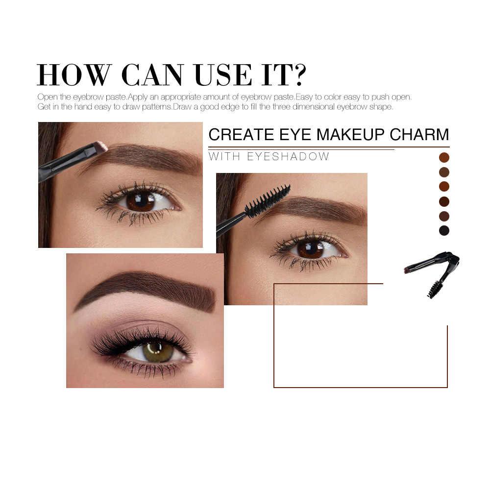 O.TWO.O Gel de cejas 6 colores 3D marrón Natural cejas ojo sombra hacer Profesional de larga duración frente pintura cosméticos con cepillo