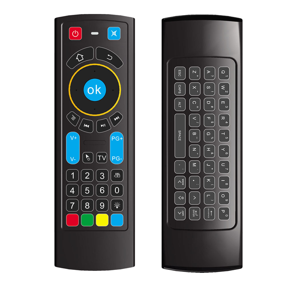 Color: No Gryo Calvas MT12 Voice Remote Control Air Mouse 2.4G Wireless Gryo IR Learning Mini Keyboard For Android TV Box PC Projector