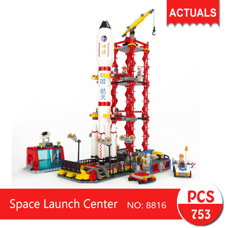 gudi 8816 753Pcs City series Space Launch Center Model Building Blocks Bricks Toys For Children Gift Action figures