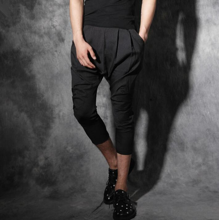 Summer personality fashion slim harem pants mens casual trousers pantalones hombre cargo ...