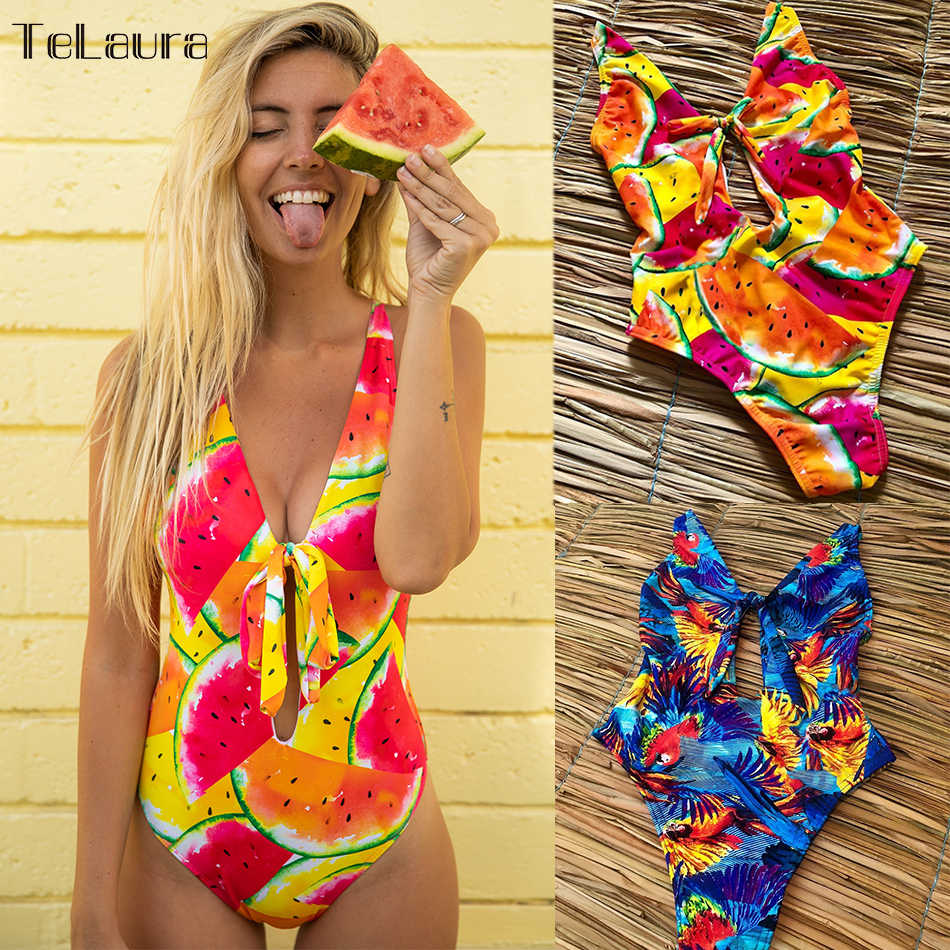 63f59c9bbe4 2019 Sexy One Piece Swimsuit Swimwear Women Bodysuit High Waisted Bathing  Suit Beach Wear Cut Out