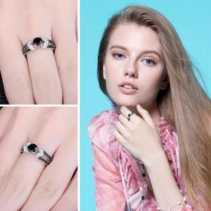 Image 4 - JewelryPalace Đen Spinel Nhẫn Nữ Bạc 925 cho Nữ, Nhẫn Nữ Đính Đá Silver Bạc 925 Đá Quý Trang Sức Viễn Chí Bảo