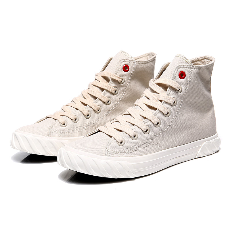 New Canvas Footwear For Men Yellow Beige Casual Footwear Youth High Top Casual Brand Men Shoes New Arrival Walking Shoes Canvas 18