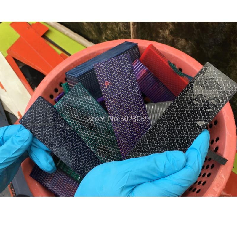 2Pieces C-Tek Knife Handle Material Plate Resin Material Snake Grain Honeycomb Pattern Slingshot Handle Material