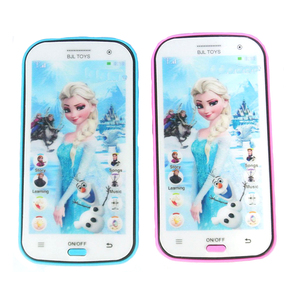 Subcluster 1 Pcs Snow Queen Toy Phone Talking Princess Anna Elsa Phone Mobile Learning Education Baby Mobilephone