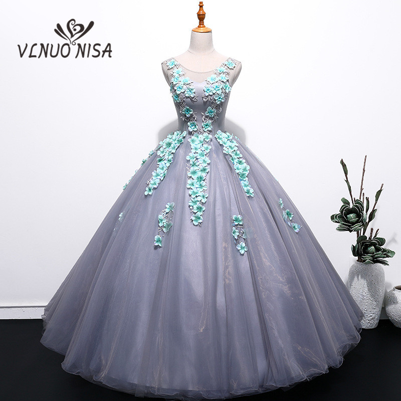 2018 New Arrival Sleeveless Vintage Evening Dress Illusion Backless Ball Gown Spotted Appliques Elegant Lace For Specila Party