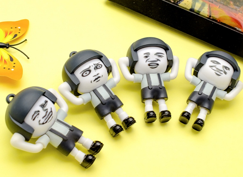 20pcs 7cm Chinese famous cartoon Changing Faces Action Figure doll 4 model Expression to show kids Fun Toy Kids