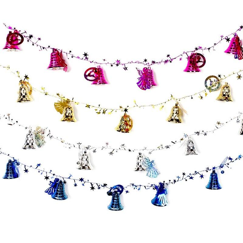 2M campanas cadena árbol de Navidad ornamento 2016 adornos navideños para el hogar campana colgante decorativo regalo de Navidad CM007 Peine Disney princesa Blancanieves Ariel Belle Aurora dibujos animados 3D estéreo peine cómodo aire peine cojín buen regalo para niñas