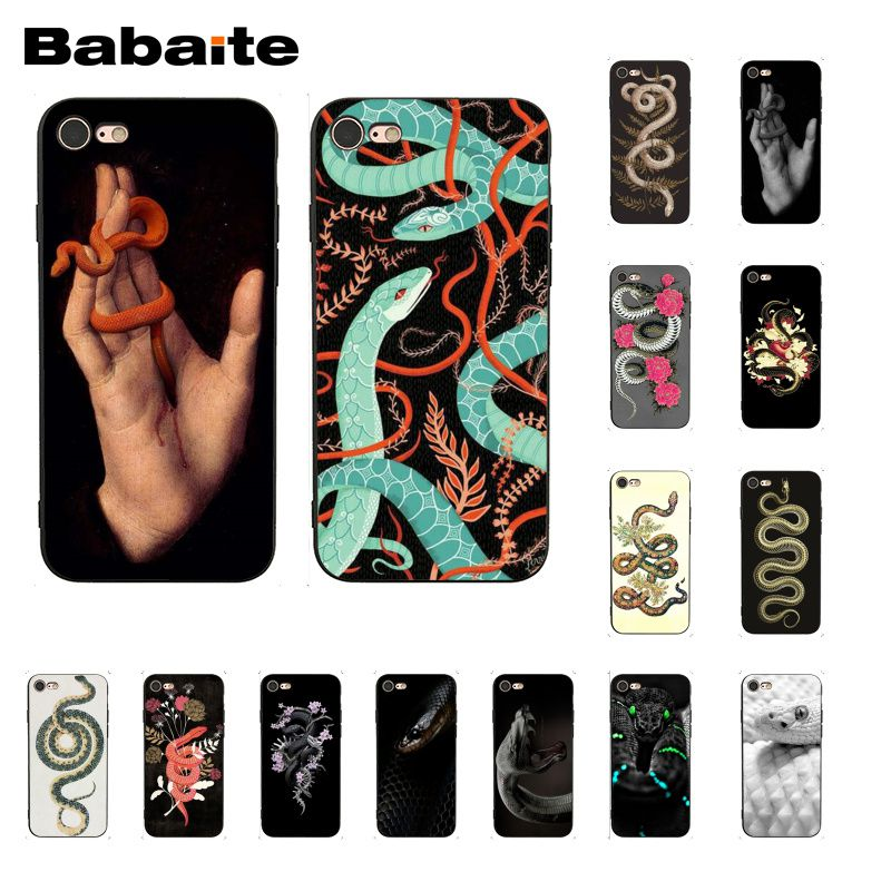 Babaite Hand Snake Flower Snake Painting Phone Case for iphone 11 Pro 11Pro Max 8 7 6 6S Plus X XS MAX 5 5S SE XR