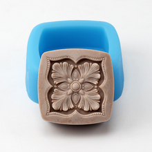 Nicole Natural Handmade Soap Silicone Mold Square with Classic Pattern Craft Resin Clay Chocolate Candy Mould