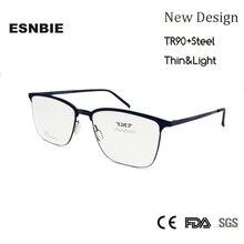 ESNBIE Super Light TR90 Glasses Men Flexible Rectangular MenS Optical Eyeglasses Frames Full Rim Prescription Eyewear